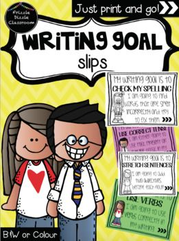 EASY & QUICK way to remind students of their writing goals!! I have used these 'Writing Goal Slips' in the past for reminder slips for Homework, when conferencing with the students, during Parent/Teacher interviews, and attached them to the students current writing work as reminders.