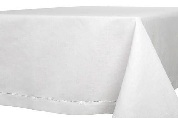 ***ITEM INFORMATION***  Classic tablecloth.  Fabric material: 52% linen, 48% cotton.  Size: choose YOURS Weight: 4.72 oz/sq.yd (160 g/sq.m) - this is light weight fabric.  Color*: Bright white (please check another listing if you would like off-white color); ***OTHER FEATURES***  -