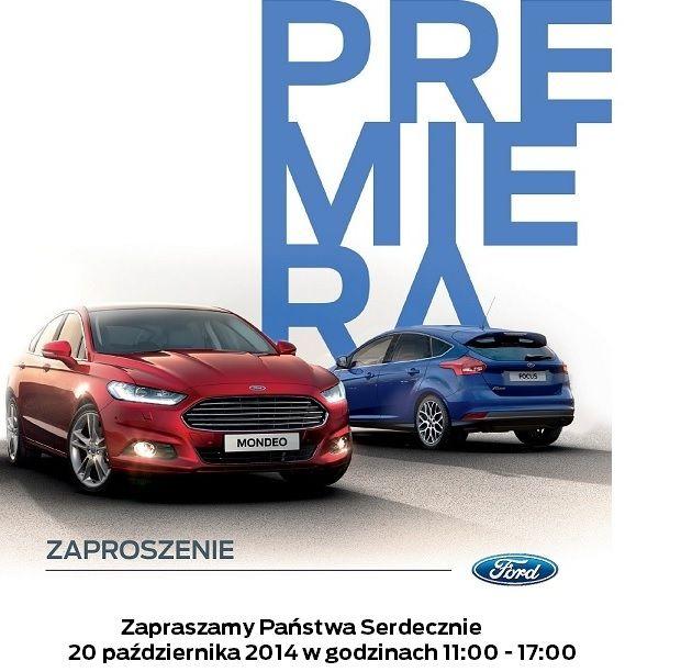 Z wyjątkową radością, bo długo wyczekiwaną, Zapraszamy Państwa Na Wyjątkową Premierę!       Wyjątkowością tego wydarzenia jest fakt, iż oba samochody będą mieli Państwo możliwość oglądać tylko 20 października jedynie przez 6 godzin i ani minuty dłużej, aż do początku 2015 roku.          Aby osłodzić Państwu podziwianie Nowych Niezwykłych Fordów zapewniamy słodki poczęstunek :) Nowy Ford Mondeo i Ford Focus tylko 20 października w Salonie Ford Auto Nobile !