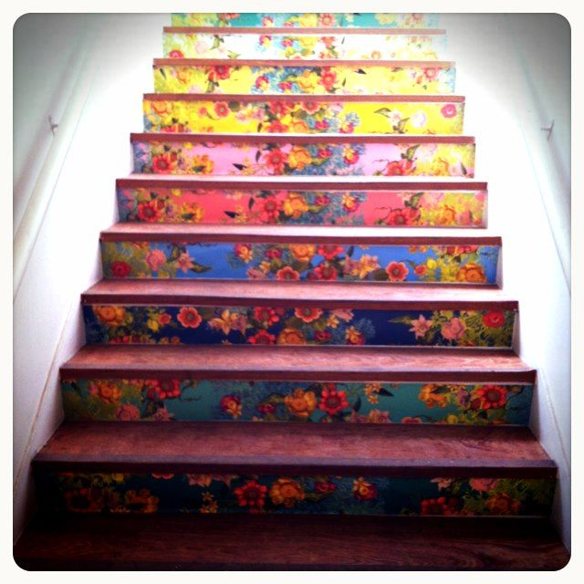 I Plan To Put Mexican Tiles On My Stair Risers, But I Like The Idea