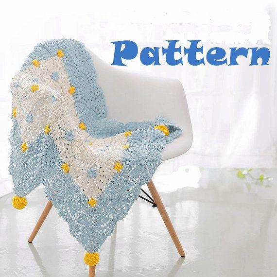 Lyonia Blanket Crochet PATTERN / Baby Blanket PATTERN / Instant Download
