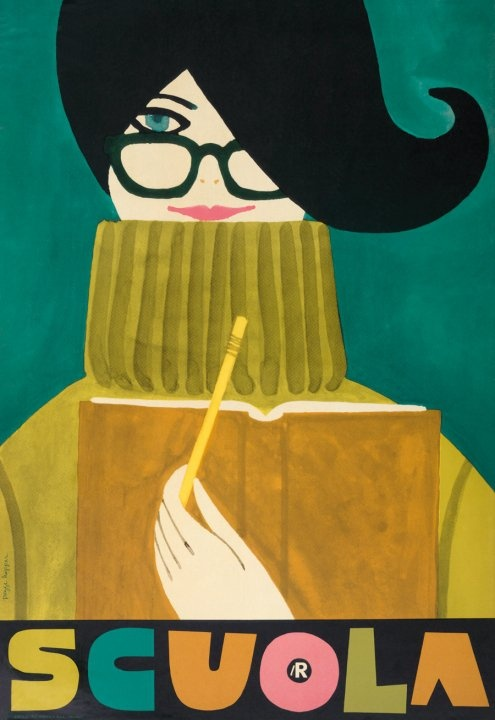 vintage Pegge Hopper poster for Italian department store, La Rinascente