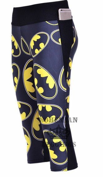 Batman leggings Capri Yoga Pants