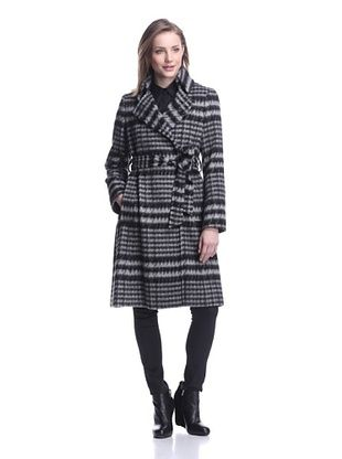 Sofia Cashmere Women's Houndstooth Wrap Coat