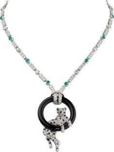 Panthère de Cartier necklace Platinum, emeralds, onyx, diamonds