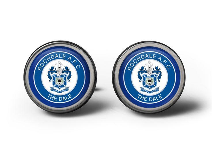 Rochdale FC Cufflinks   ourcufflinkshop.co.uk