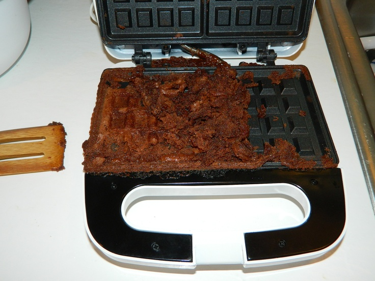 Brownie waffles for sundaes...NAILED it!  lol