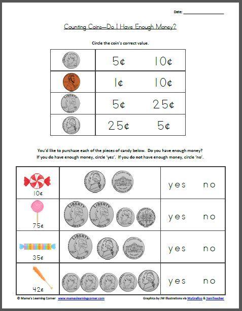 99 best images about math money on pinterest coins money worksheets and student. Black Bedroom Furniture Sets. Home Design Ideas