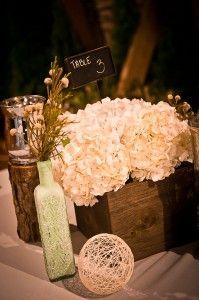 rustic white wedding centerpiece aminamichele.com