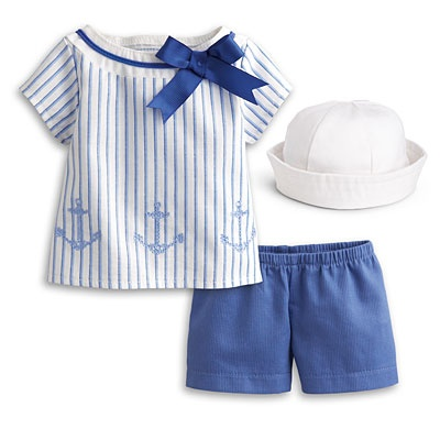 American Girl® Dolls: Seaside Outfit for Dolls - laugh all you want. without the hat, I would totally wear this myself