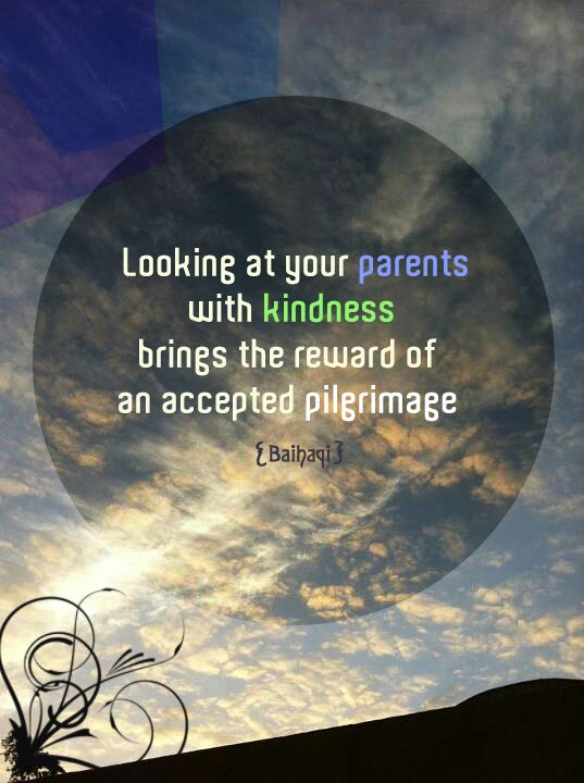 love your parents and respect them