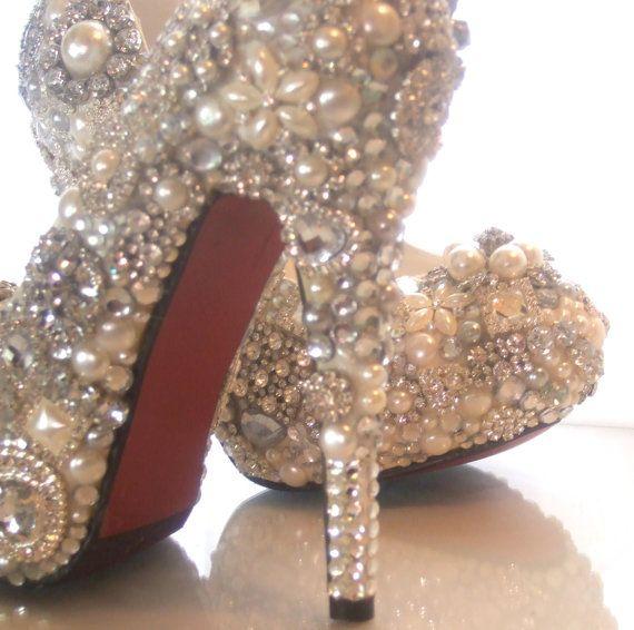jeweled bridal heels
