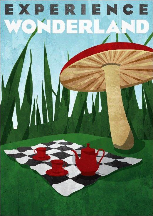 Travel Poster for Wonderland