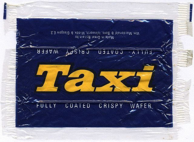 Taxi bar wrapper from the 1970's / 1980's