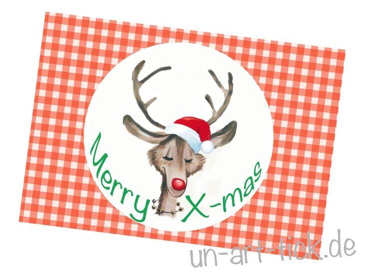 Weihnachten - 4 Weihnachtskarten Humor - ein Designerstück von Un-Art-Tick bei DaWanda