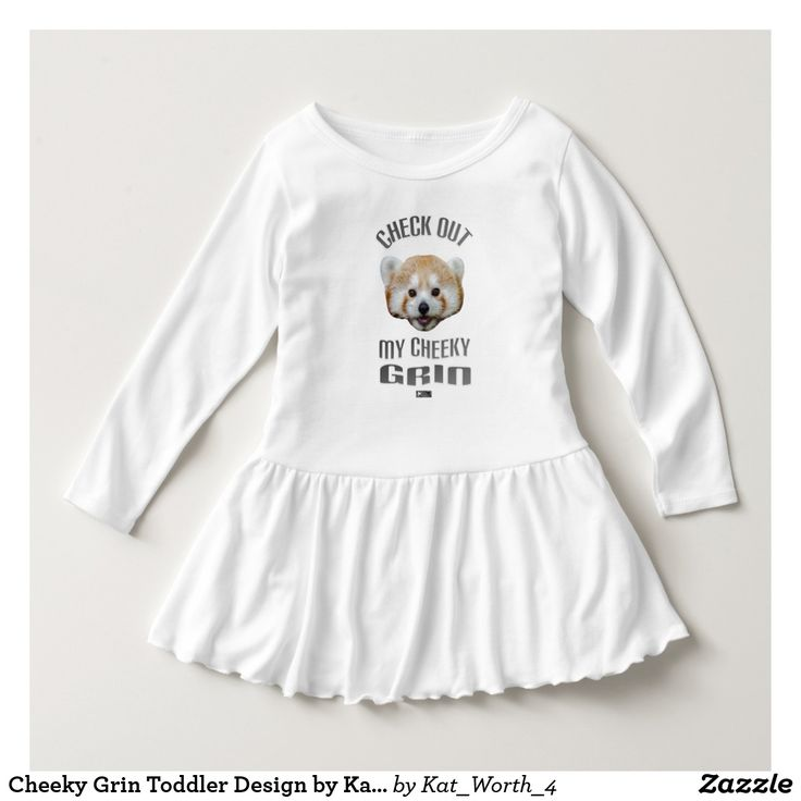 Cheeky Grin Toddler Design by Kat Worth Dress