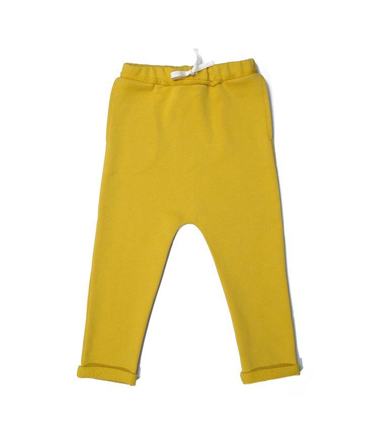 yellow baggy pants