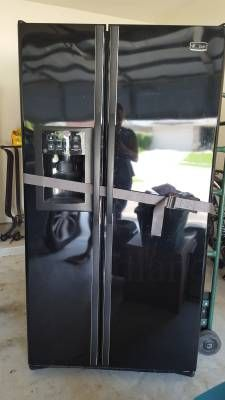 Ge Black Side by Side Refrigerator - The Woodlands Texas Home Appliances For Sale - Large Appliances Classifieds on Woodlands Online