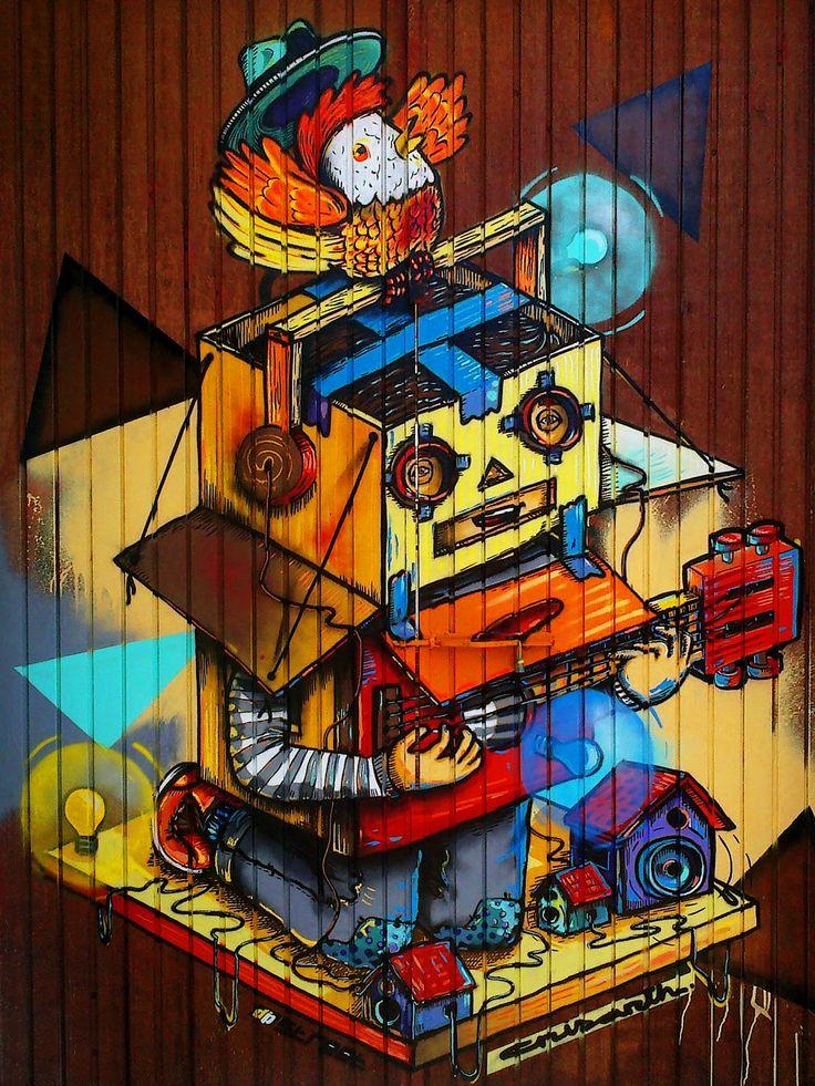 Crisarth. Carlos Loaiza + Daniel Larios. Obra: Feria de Ministerios. Mazatlán, Sinaloa, México. Arte Urbano. Graffiti.