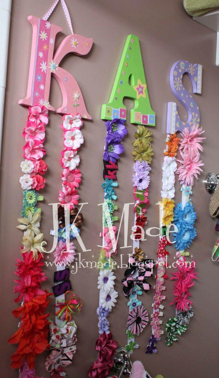 10 best ideas about hair bow holders on pinterest hair - Ganchos para colgar ...