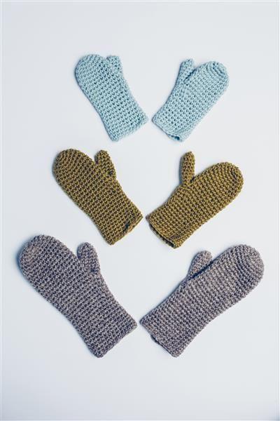 Tema 42: Modell 34 Heklede votter #hekle #crochet