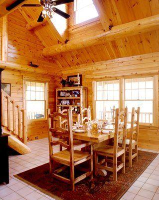 40 best Log Home Kitchens & Dining Rooms images on Pinterest ...