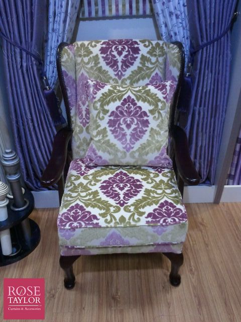 Upholstered chairs by www.rosetaylorcurtains.com