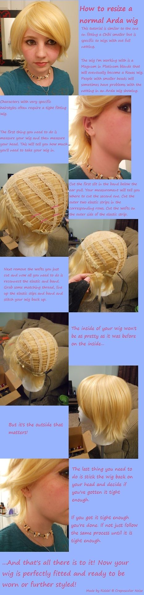 How to Re-size a Wig Smaller   Arda Wigs