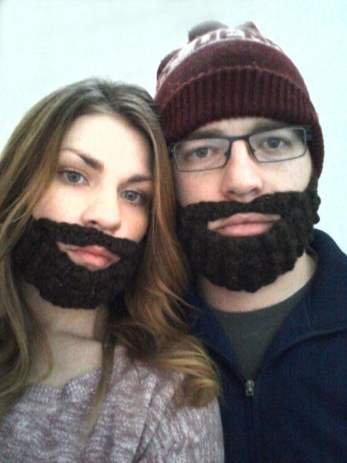 Crochet Beard + free pattern
