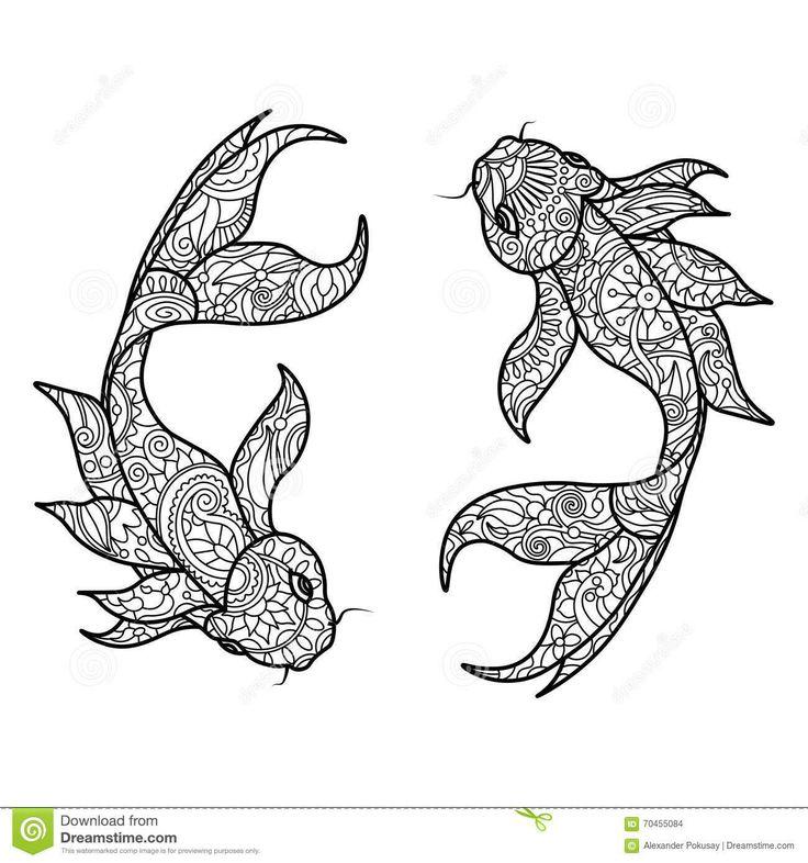 57 besten Coloring: Pisces Bilder auf Pinterest | Fische, Zeichnen ...