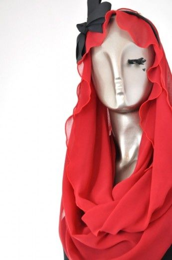 Frilly Loop-Rouge Red - Loops - Online Collection | Online Hijab Store in Singapore| Shawl | Hoodies | Hijabfashion|
