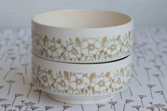 Pair of Hornsea Pottery 'Fleur' Breakfast / Soup / by HobbyMum, $20.00