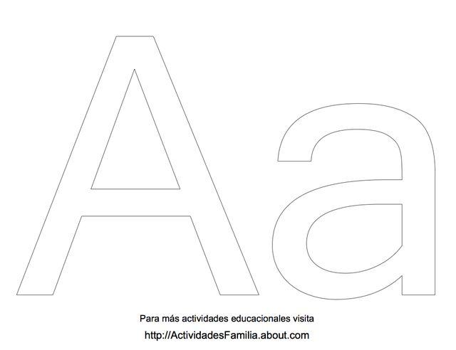 Abecedario para colorear: Letra A para colorear