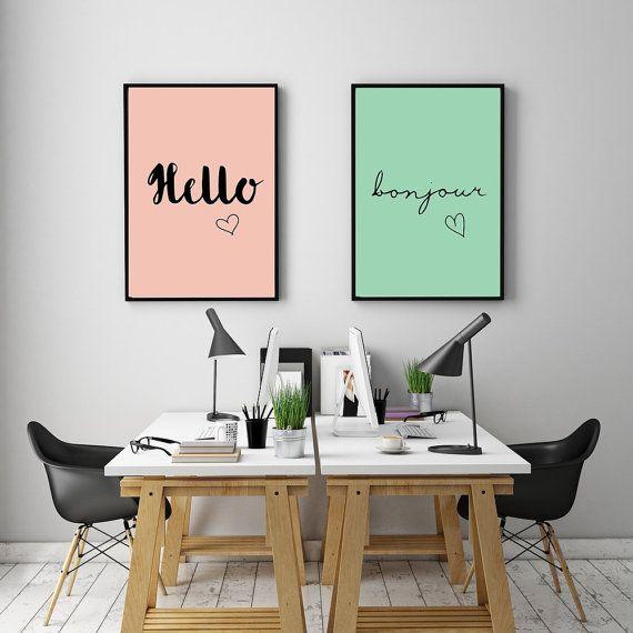 Creatieve toets? Originele look? Een eigenzinnig interieur hoeft niet duur te zijn...Met deze printables en bijpassende fotokaders kan je wonderen doen!