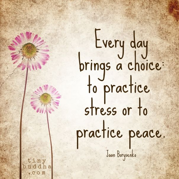 Everyday Brings A Choice More · Peace QuotesSerenity ...