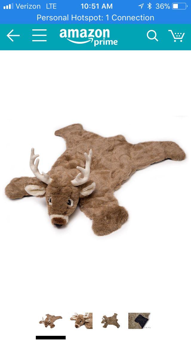 Carstens Plush White Tail Deer Animal Rug, Small https://www.amazon.com/dp/B0049GSR6U/ref=cm_sw_r_cp_api_KCqsAbVGPZFHE