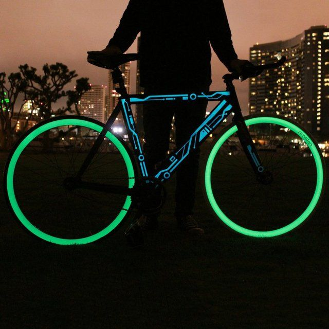 Glow in the Dark Bicycle Wheel Skins by Rimskin #Bicycle, #GlowInDark, #Wheel