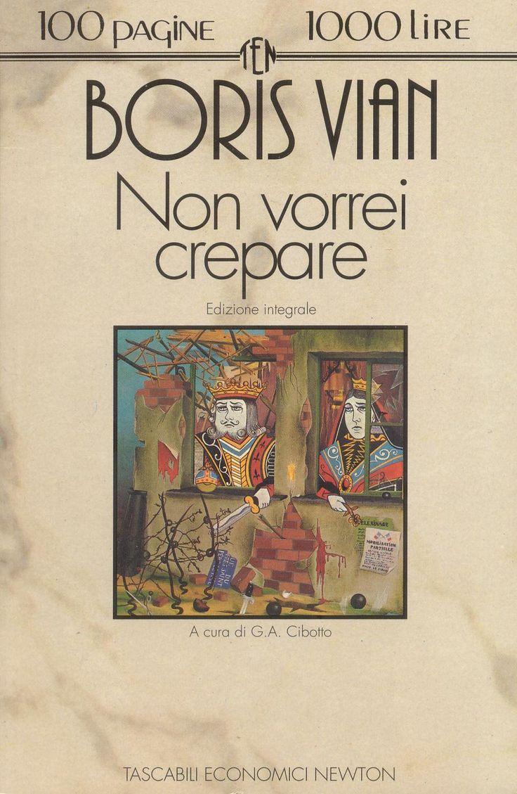Non vorrei crepare Boris Vian Lettura, Books, Poesia