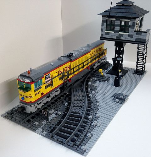 die besten 25 lego eisenbahn ideen auf pinterest. Black Bedroom Furniture Sets. Home Design Ideas