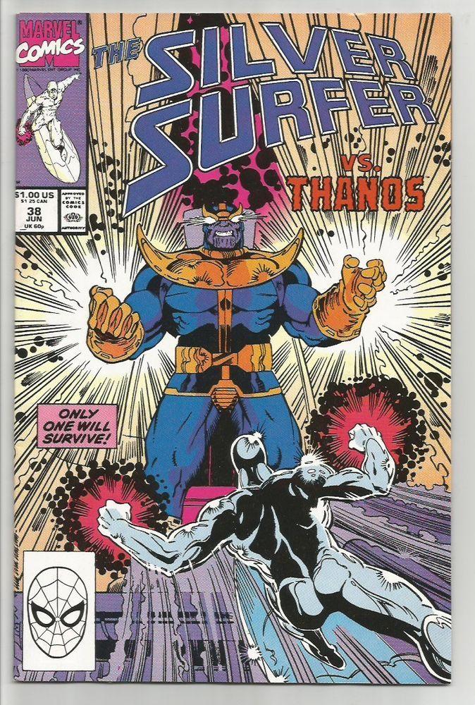 SILVER SURFER #38 THANOS Marvel Comics 1st print & series High Grade 1990 VF/+