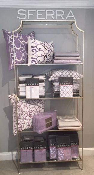 Our stunning Lilac luxury linens story at Lynnens of Greenwich, in CT.