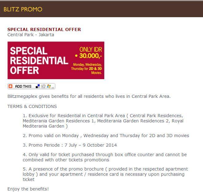 blitzmegaplex: Special Residential Offer @blitzmegaplex
