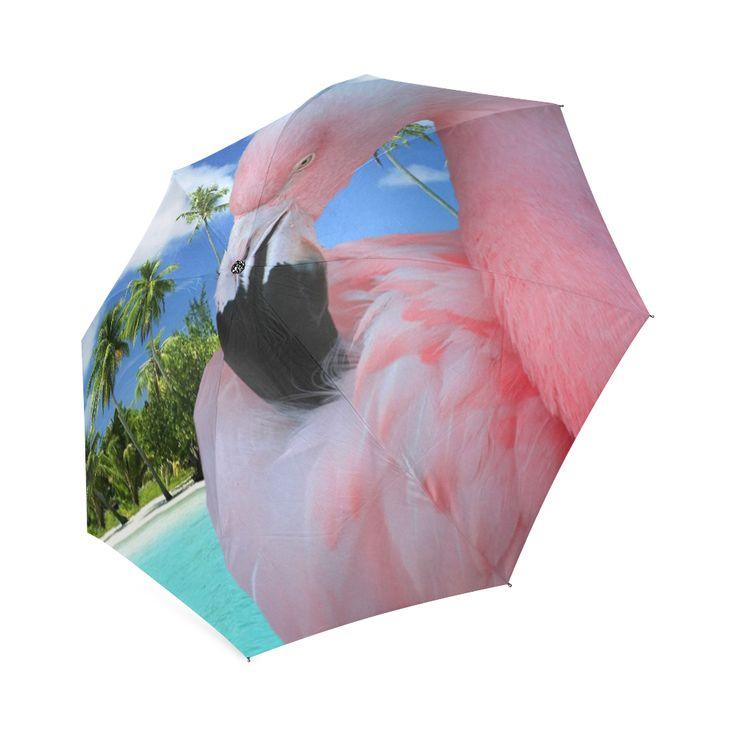 Pink Flamingo Foldable Umbrella