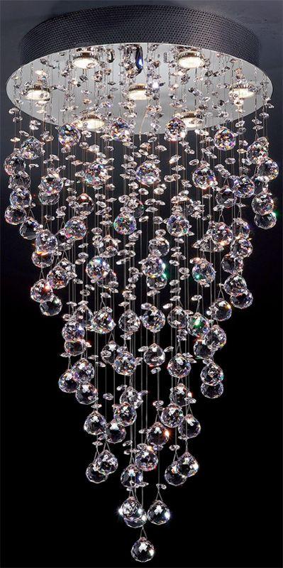 die besten 25 moderne glaskronleuchter ideen auf pinterest kristallleuchter kronleuchter und. Black Bedroom Furniture Sets. Home Design Ideas