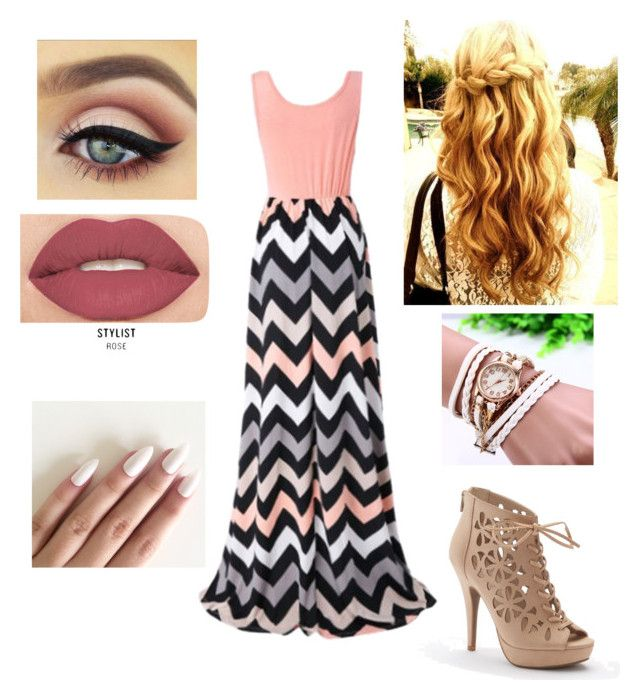 """""""Summer Outfit #2"""" by ania-kondrat on Polyvore featuring Chicnova Fashion, Apt. 9 and Smashbox"""