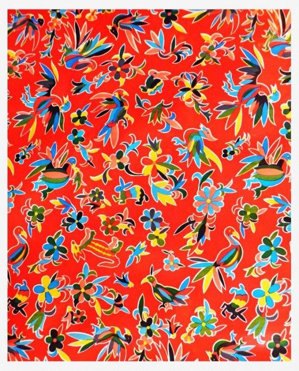 toile cir e mexicaine oaxaqueno rouge deco pinterest. Black Bedroom Furniture Sets. Home Design Ideas