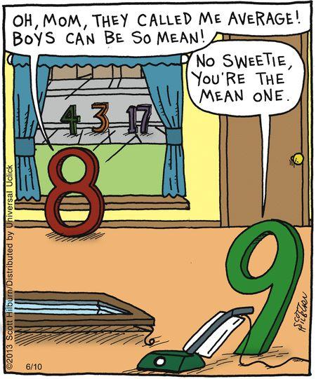 The Mean One...bah ha ha! This sounds like an Edith math joke!
