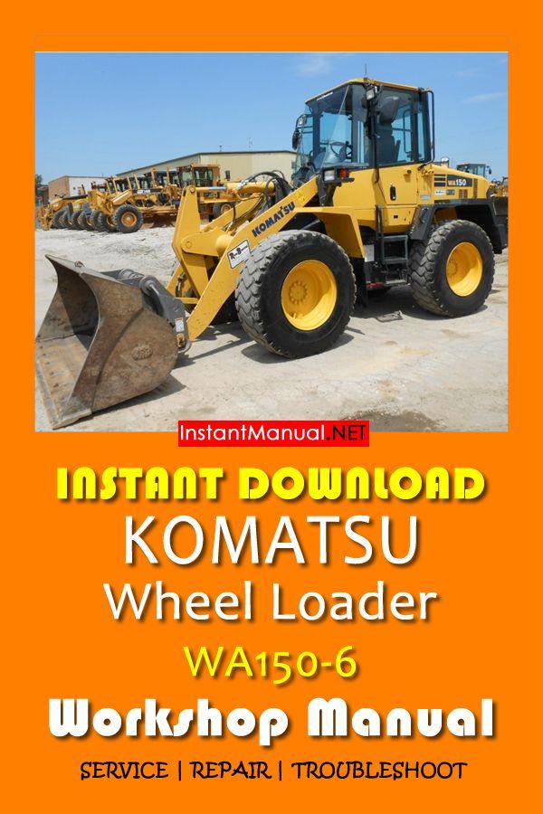 Download Komatsu Wa150 6 Wheel Loader Workshop Manual Pdf Sn 80001 Up Komatsu Manual Wheel
