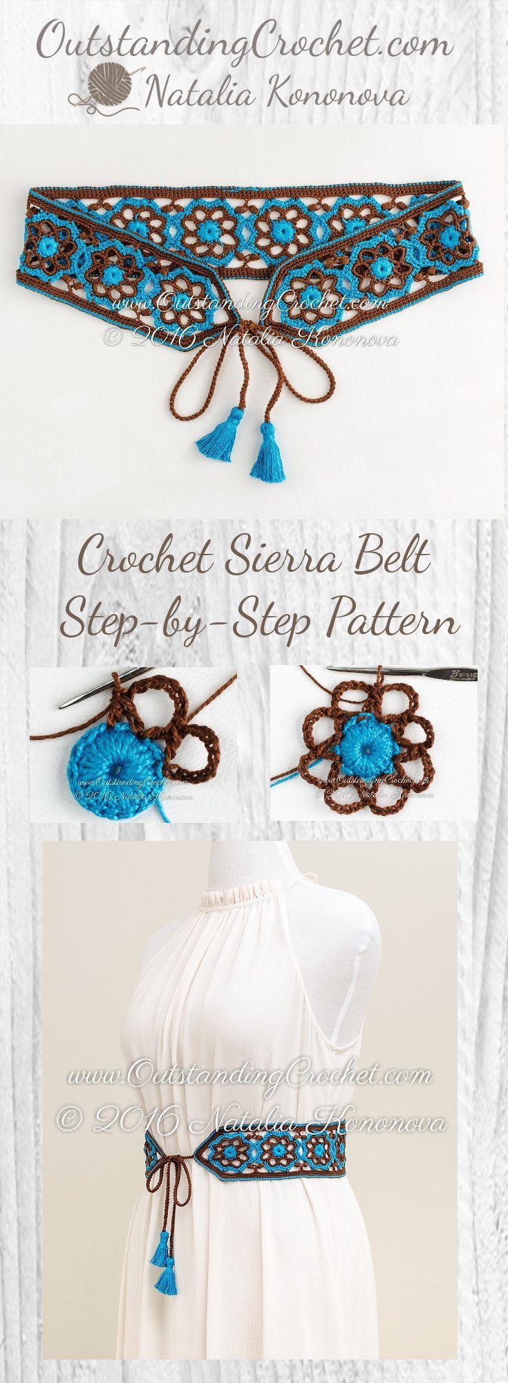 Sierra Belt Step-by-Step Crochet Pattern at www.OutstandingCr...