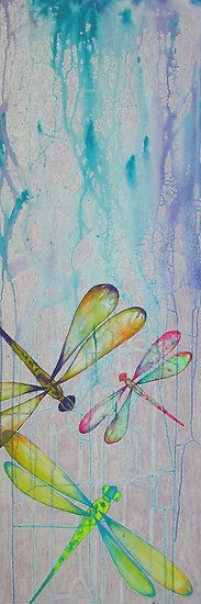 Dragonfly Art - Painted Dreams Studio